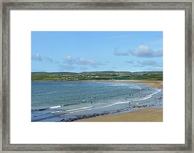 Framed Print featuring the photograph Lahinch Beach by Terence Davis