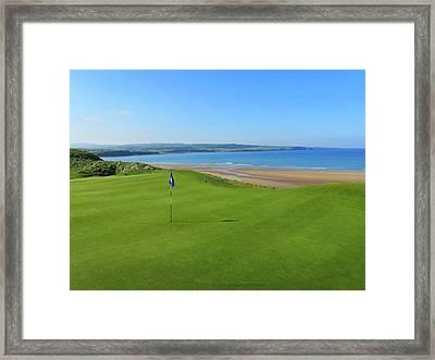 Lahinch Golf Club - Hole #7 Framed Print by Scott Carda