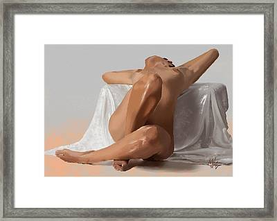 Laid Back Framed Print