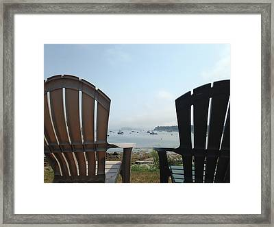 Framed Print featuring the digital art Laid Back by Olivier Calas