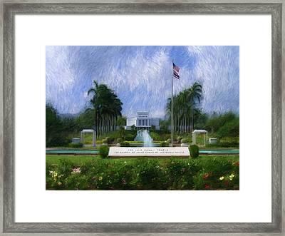 Laie Hawaii Temple Framed Print