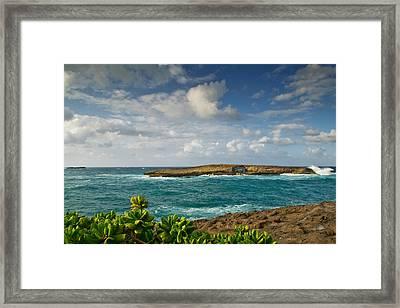 La'ie Point Sea Arch Framed Print