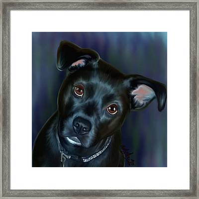 Laila In Blue Framed Print