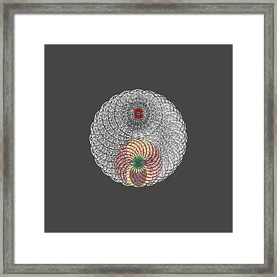Lair Of Spider Without Background Framed Print