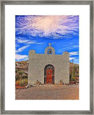 Lajitas Chapel Painted Framed Print