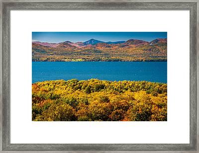 Lak Champlain In Autumn Framed Print by Robert Davis