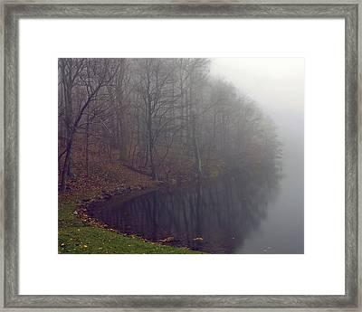 Framed Print featuring the photograph Lake Abbott Fog by Alan Raasch