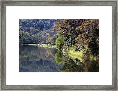 Framed Print featuring the photograph Lake Abbott Reflections by Alan Raasch