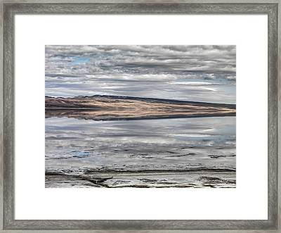Lake Abert Reflections Framed Print by Leland D Howard
