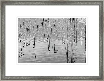 Lake Abstract Framed Print by Carolyn Dalessandro