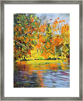 Lake Aerofloat Fall Foliage Framed Print