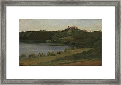 Lake Albano And Castel Gandolfo Framed Print