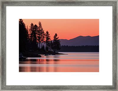 Lake Almanor Twilight Framed Print