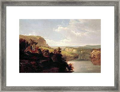 Lake Among The Hills  Framed Print by William Hart
