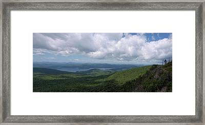 Lake And Ridges Framed Print