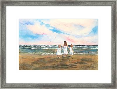 Lake Angels Framed Print by Sandra Strohschein