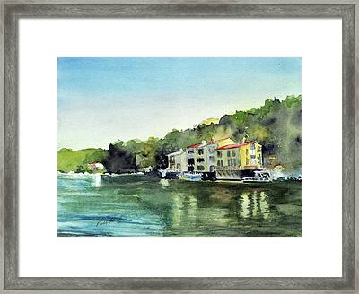 Lake Ann Reston Va Framed Print by Paul Temple