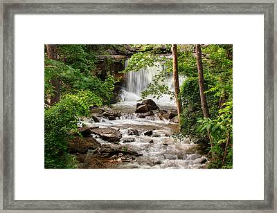 Lake Ann Waterfall - Bella Vista Arkansas Framed Print