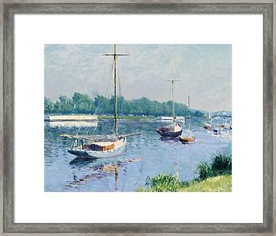 Lake Argenteuil Framed Print by Gustave Caillebotte