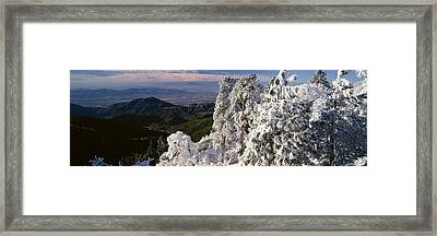 Lake Arrowhead In Winter, California Framed Print by Panoramic Images