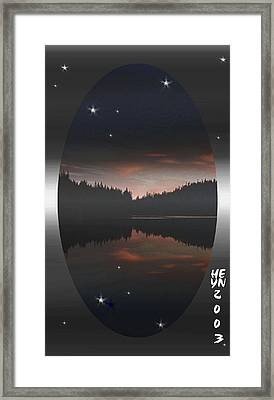 Lake At Dusk Framed Print