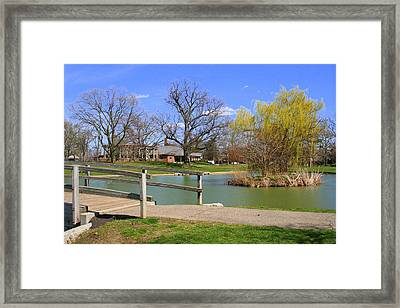 Lake At Schiller Park Framed Print