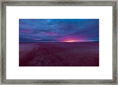 Framed Print featuring the photograph Lake Ballard At Dawn by Julian Cook
