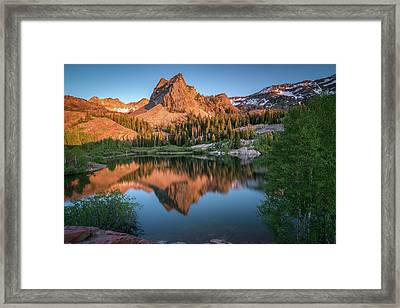 Lake Blanche At Sunset Framed Print