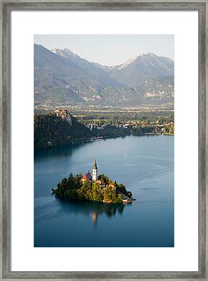Lake Bled And Island Framed Print