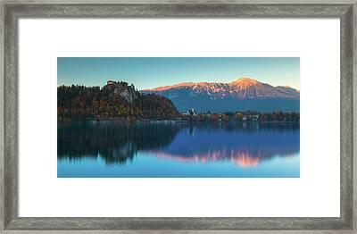Lake Bled Panorama Framed Print