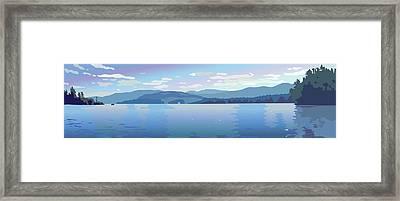 Lake Blues Framed Print by Marian Federspiel