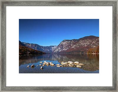 Framed Print featuring the photograph Lake Bohinj by Davor Zerjav