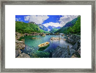 Framed Print featuring the photograph Lake Bondhusvatnet by Dmytro Korol