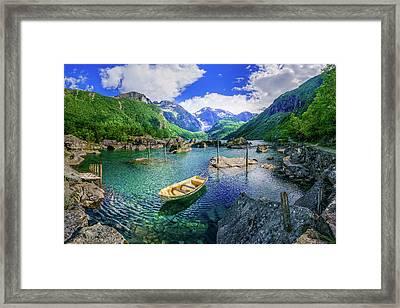 Framed Print featuring the photograph Lake Bondhusvatnet by Dmytro Korol