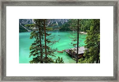 Lake Braies Framed Print