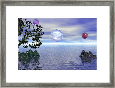 Lake Bubble Planet Framed Print by Kim Prowse