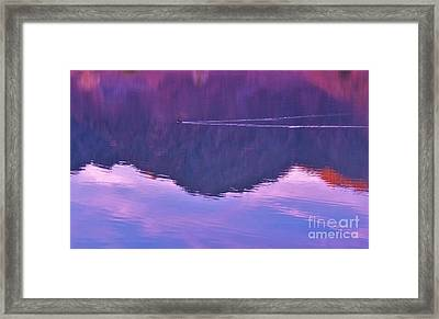 Lake Cahuilla Reflection Framed Print by Michele Penner