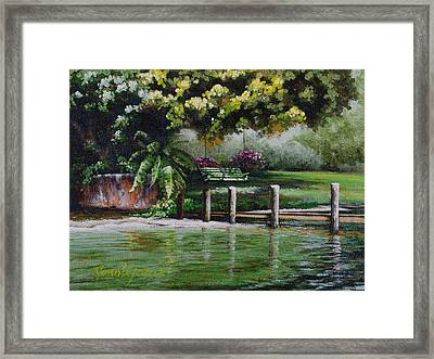 Lake Carroll Morning Framed Print