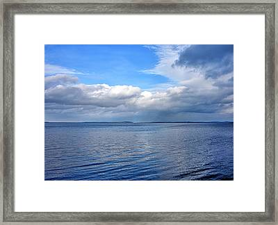 Framed Print featuring the photograph Lake Champlain From New York by Brendan Reals