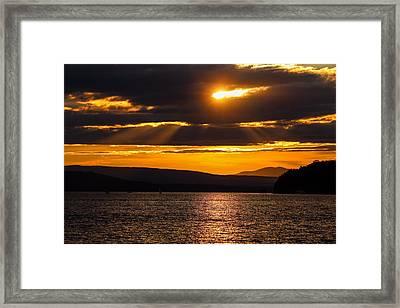 Lake Champlain Sunset Framed Print