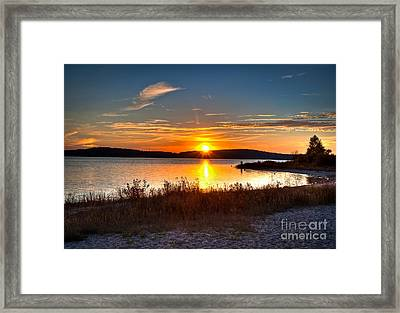 Lake Charlevoix Sunset Framed Print
