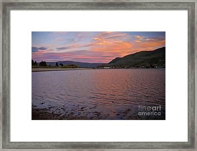 Lake Chelan Sunset Framed Print