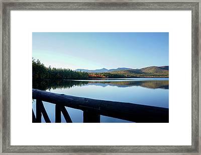 Lake Chocorua Autumn Framed Print by Nancy De Flon