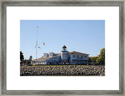 Lake City Lighthouse Framed Print by Larry Nielson