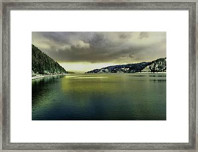 Framed Print featuring the photograph Lake Coeur D' Alene by Jeff Swan
