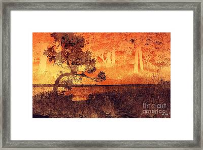 Lake Collage Framed Print by Mickey Harkins