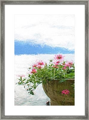 Lake Como Flowers Framed Print by Gary Guthrie