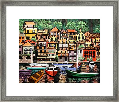 Lake Como Italy Framed Print by Anthony Falbo