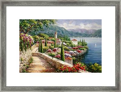 Lake Como Promenade Framed Print