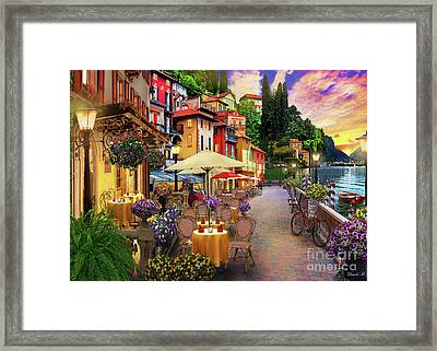 Lake Como Promenade Framed Print by MGL Meiklejohn Graphics Licensing
